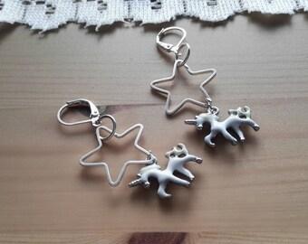 "Earrings ""dance of the unicorns"""