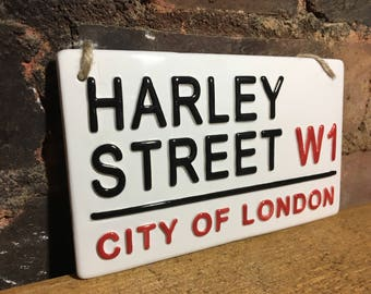 HARLEY STREET-City of London-London Street Signs-Plastic Surgery-Botox-for her-Beauty Gifts-Streets of London-Cosmetic Surgery-mothers day