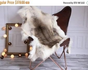 on sale reindeer hide real natural reindeer rug reindeer skin throw l large