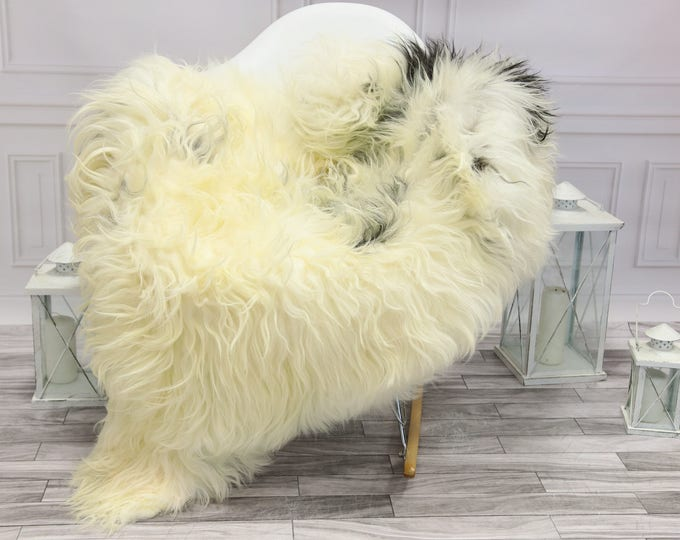 Icelandic Sheepskin | Real Sheepskin Rug | Gray Black Sheepskin Rug | Fur Rug | #islsept13