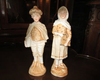 GERMANY SCHOOL BOY and Girl Figurines
