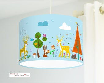 Lampshade- wild animals - 35 cm - optional color on request at no extra charge