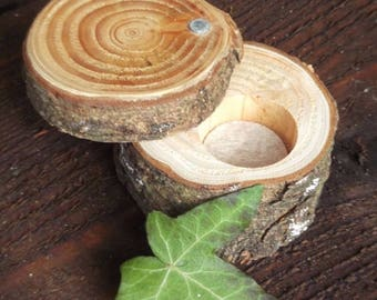Woodland Rustic Natural Wedding Ring Bearer Pillow Box Engagement