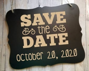 Save The Date Wedding Sign - Engagement Photoprahy Prop - Photography Prop - Wedding Decor - Photo Prop - Wedding Accessories