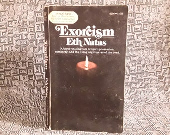 EXORCISM Paperback Book, Eth Natas 1974 , The Exorcist, Demonic Possession, Satanic Witchcraft, Spirit Possession