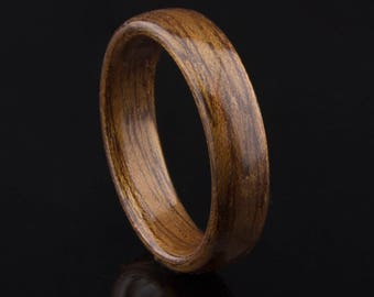 Bentwood Ring  Handcrafted In  Mahogany  Wood
