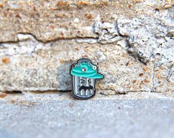 Mini Trashcan Pin Hat Lapel Festival EDM Rave Snapback