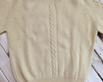 Crazy Horse Shetland Wool Crew Neck Sweater