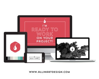 I'm ready to work on your project! Freelance PROFESSIONAL GRAPHIC DESIGNER services. Custom logo design, branding, graphic design.
