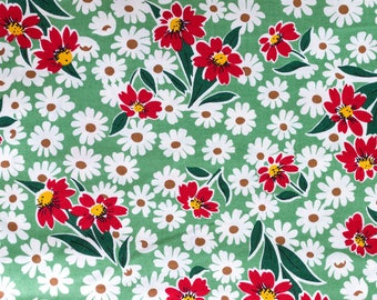 Happy Campers  Green Floral by American Jane for Moda Fabrics Fat Quarter OOP HTF
