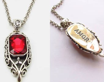 Pre-order Izzy lightwood family ruby necklace pre-order