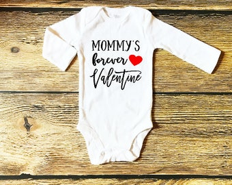 Baby Valentines Outfit Valentine's Day Outfits for Baby Boy Mommy's Forever Valentine Baby First Valentine's Day Outfit Boys Valentine's Top