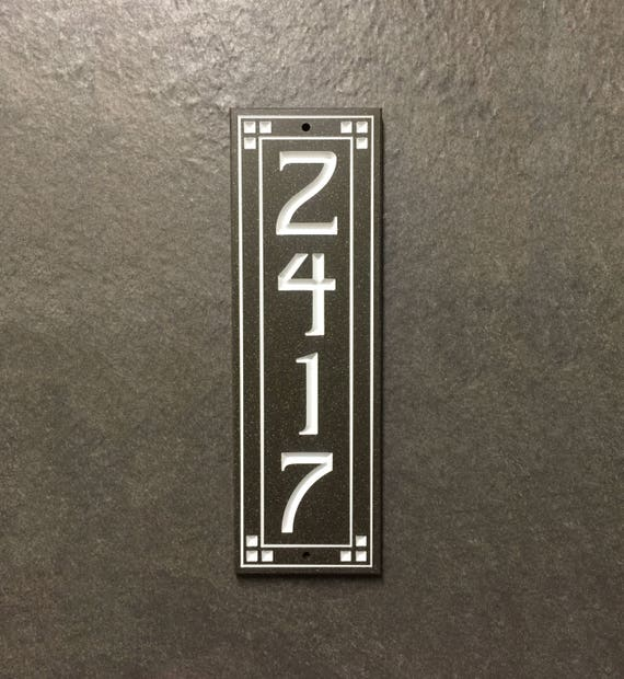 Vertical Prairie Style House Number