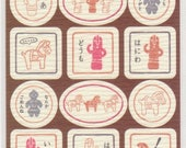 Haniwa Stickers - Relic Stickers - Washi Paper Stickers - Reference A5715-16