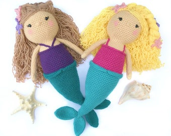 Crochet Mermaid Pattern, Amigurumi Mermaid Pattern, Crochet Mermaid Doll Pattern, Crochet Toy Pattern, Crochet Doll Pattern, Crochet PDF