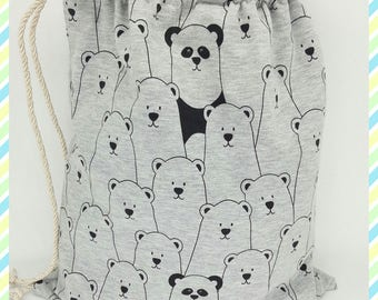 "bag ""Teddy"" stretch jersey fabric"