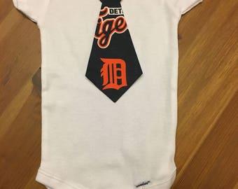 Detroit Tigers Tie Onesie