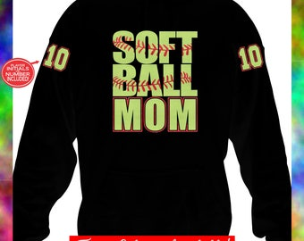 Softball Hoodie, Softball Mom Hoodies, Custom Softball Hoodie, Personalized Softball Hoodie