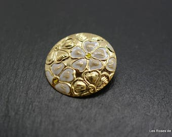 Brooch art deco flower, brooch