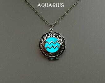 AQUARIUS Zodiac Sign, Astrology Necklace, Aquarius Necklace, Star Sign Necklace, Zodiac Jewelry, January February Birthday Gift