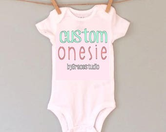 Custom Bodysuit//Personalized Bodysuit//Baby Bodysuit//Baby Gifts//Baby Shower Gifts//Birthday Bodysuit//Gender Reveal