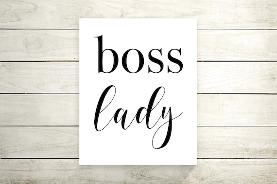 Boss Lady Canvas Print - Art Print - Canvas Wall Art - Home Decor - Inspirational Quote - Motivational Poster - Canvas Office Decor