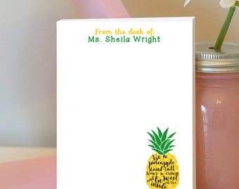 Be a Pineapple Notepad - Pineapple Personalized Notepad - Be a Pineapple - Pineapple Lover - Pineapple - Pineapple Gift - Stand Tall