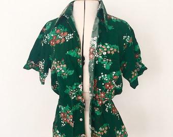 Vintage green meadow shirt