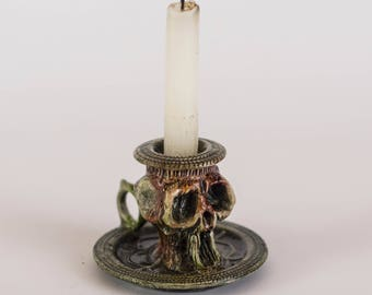 Skull Gothic Candle Holder Pirate Poison Bottle Apothecary jar