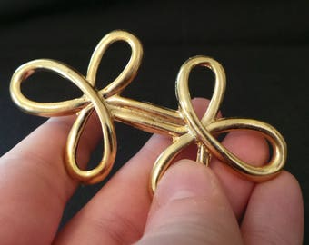 Vintage Gold Eternity Knot Celtic Brooch Pin