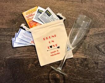 Drunk On Love... Set of 8 Hangover Kit Bags