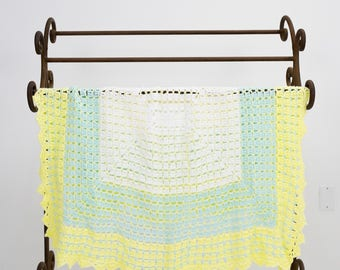 Green & Yellow Baby Blanket