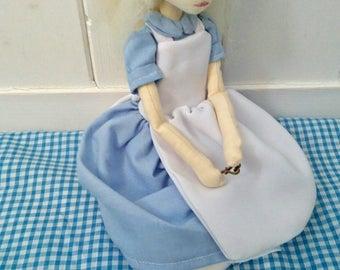 OOAK  Alice in Wonderland, Handmade Art Doll, Cloth