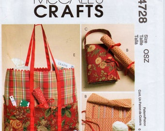 Sewing Bag Knitting Bag Pattern Knitting Needle Case McCALLS CRAFTS M4728 UNCUT Crochet Hook Case Sewing Organizer Sewing Gifts Craft Gifts