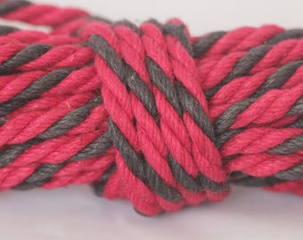 Red & Black Hemp Bondage Rope