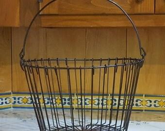 Vintage Rustic Vintage Iron Basket