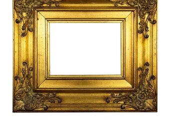 Antique Picture Frame Ornate Gold Frame Antique Gold Frame Carved Wood Frame Gilded Wood frame Italian home decor Antique Decor Wall hanging