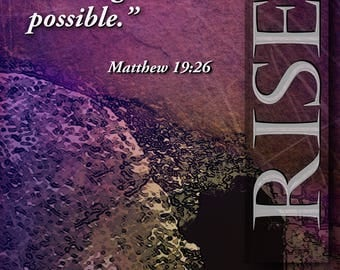 With God all things are possible; . . . / Yard Banner (G1517-1)