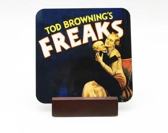 Freaks Coaster Freaks Drink Coaster Tod Browning's Freaks Horror Coaster Horror Drink Coaster Movie Oddities Zip Pinhead Freakshow