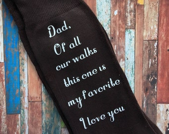 Dad Of All Our Walks This One is My Favorite Brown Socks for the Wedding Day - Father of the Bride Socks