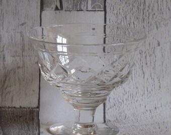 Set of Four Stuart Crystal Cut Glass Dessert Dishes