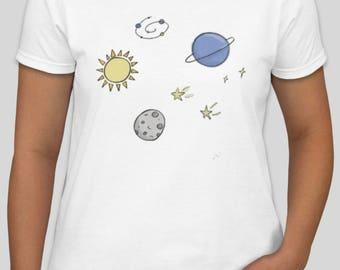 Outer Space Galaxy Nebula T Shirt