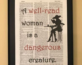 A well-read woman is a dangerous creature; Gifts for readers;