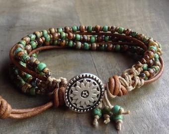 Bohemian bracelet boho chic bracelet layered bracelet womens jewelry boho chic jewelry hippie jewelry stackable bracelets gift for her