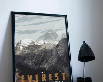 Mt Everest Poster 11x17 18x24