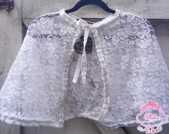 Handmade Lace Cape/Capelet Free Size - Shiro White Gothic Lolita