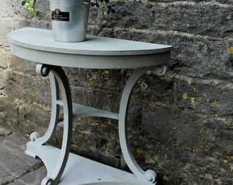 For Sale Fabulous French Demi Lune Console Table