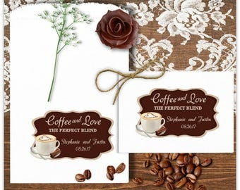 Wedding Coffee Bags - Wedding Favors - Coffee Favors - Bridal Shower Favors - Anniversary Favors - Engagement Favors - Coffee Love  CBCL2