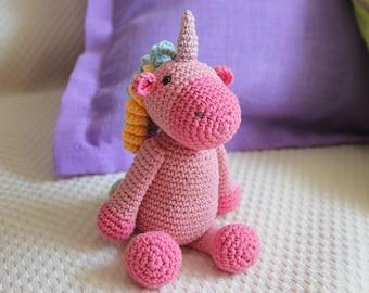 Crocheted unicorn