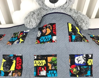 star wars quilt classic star wars caracters quilt star wars baby or toddler gift